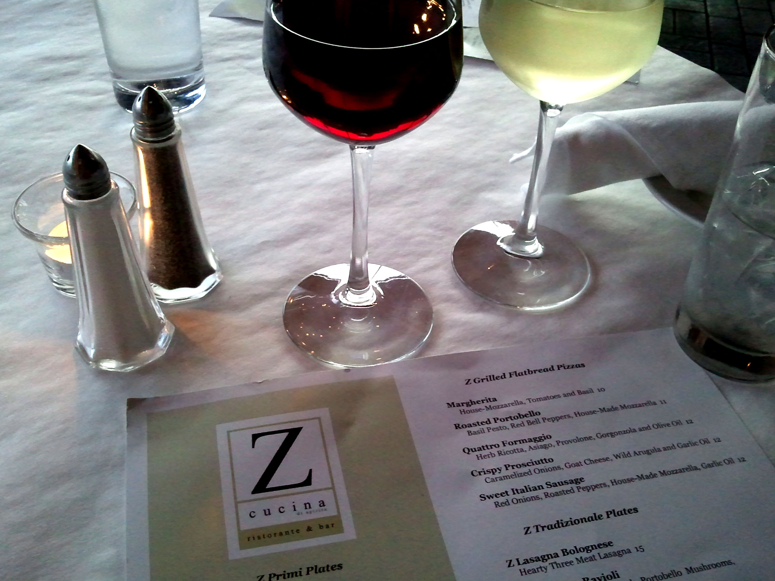 birthday dinner at z cucina