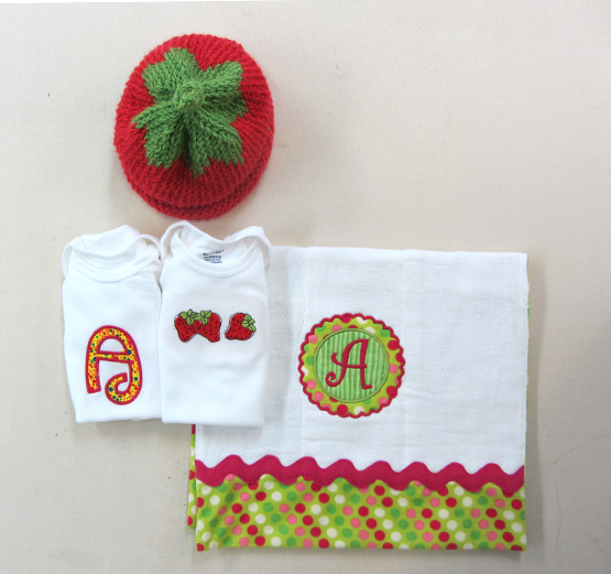 embroidered baby gift