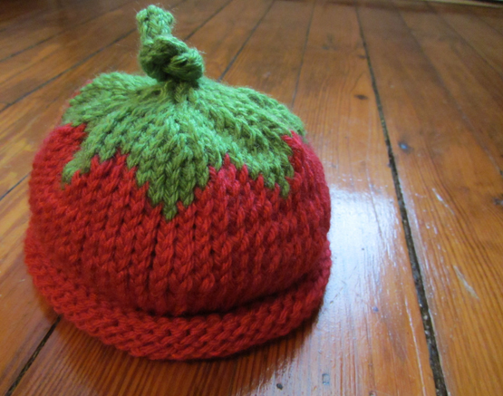 knit baby berry hat