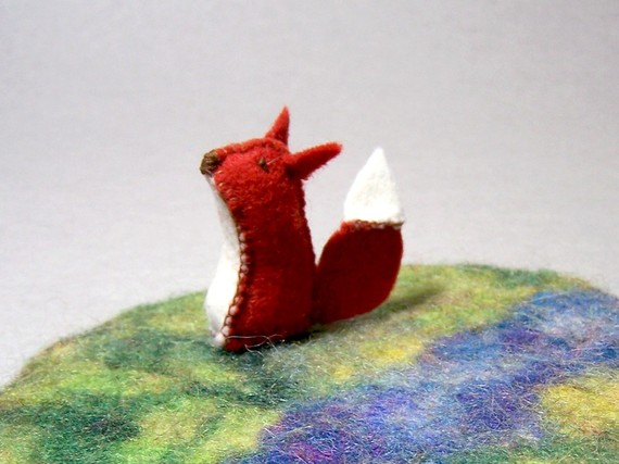 adorable felted fox