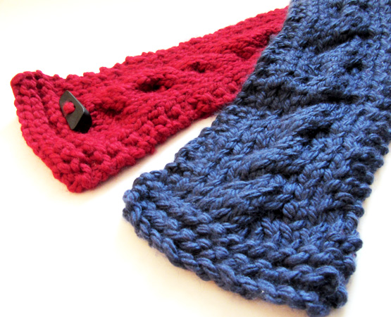 cable knit scarves