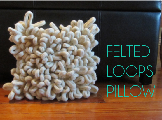 felted loops pillow
