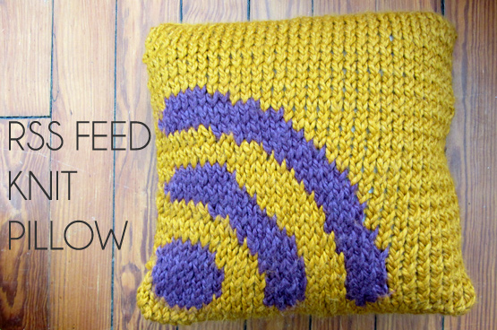 knit pillow rss feed