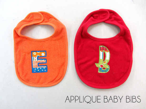 applique baby bibs