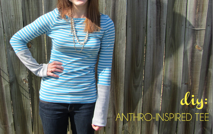 easy diy anthropologie inspired shirt