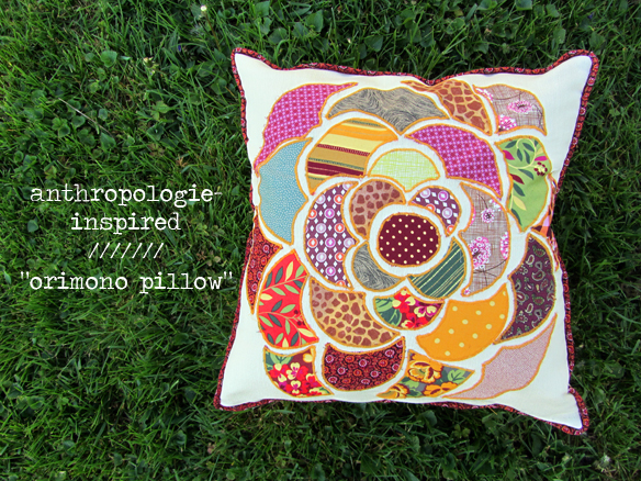 anthropologie inspired pillow