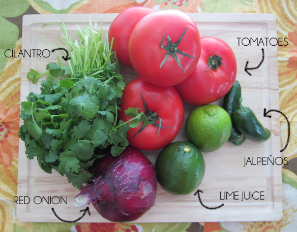 pico de gallo recipe ingredients
