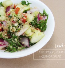 eat stuff :: cucumber tomato + quinoa salad