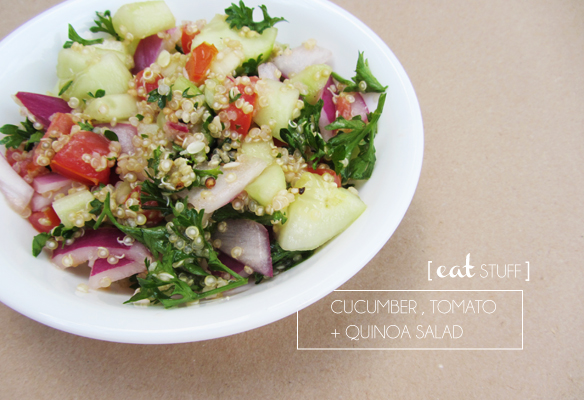 cucumber quinoa salad recipe