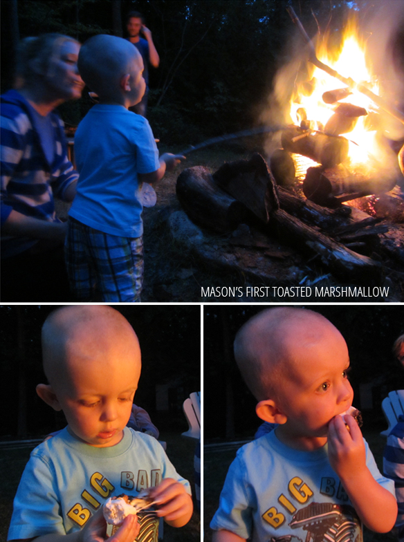 mason's first marshmallow