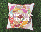 Anthro inspired pillow