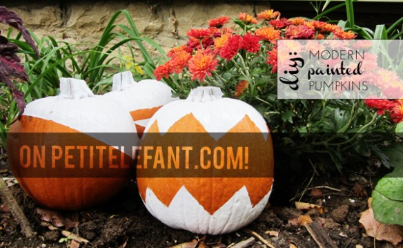 diy painted pumpkins on petit elefant