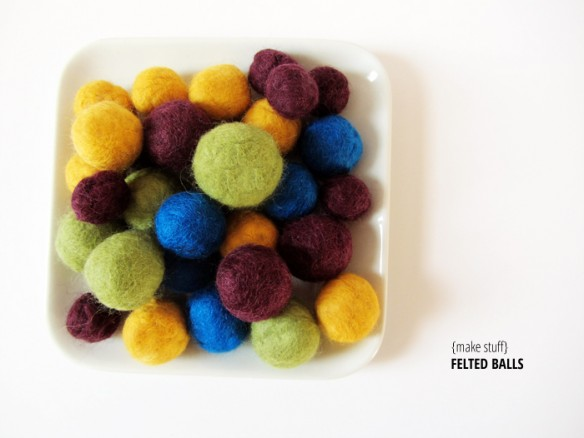 how to make felt balls :: stuff steph does
