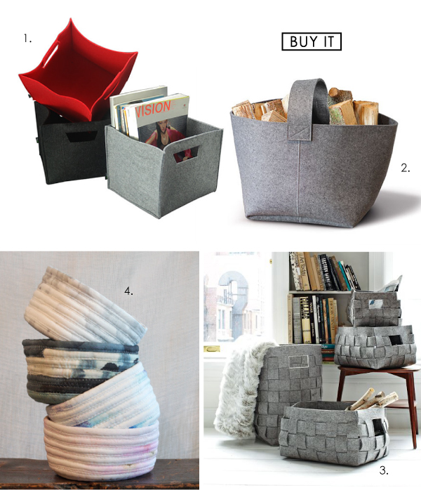 textile felt fabric baskets