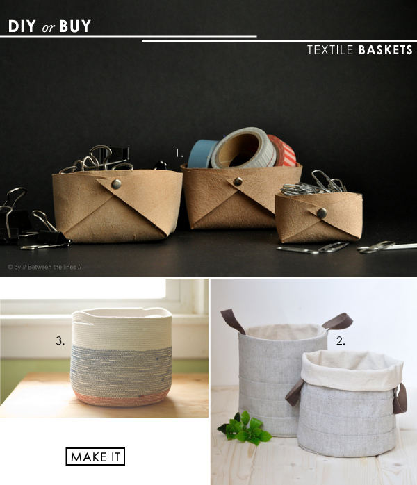 diy textile baskets
