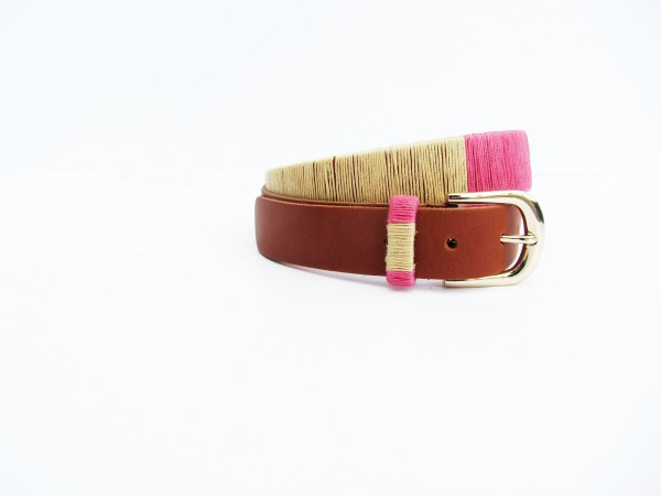 jcrew thread wrapped belt diy